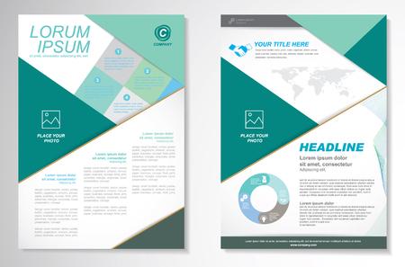 folleto: Vector Folleto folleto de diseño Disposición template.infographic Vectores