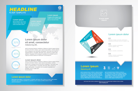 Vector Brochure Flyer design Layout template.infographic Stock fotó - 45643619