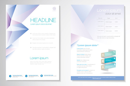 page layout: Vector Brochure Flyer design Layout template, size A4, Front page and back page, infographics. Easy to use and edit.
