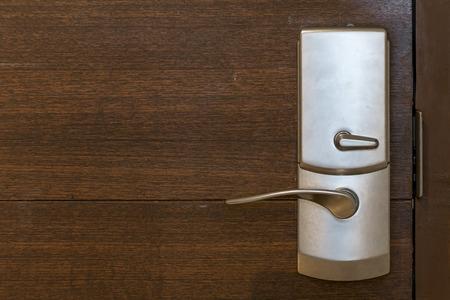 nickle: Detail of wooden door