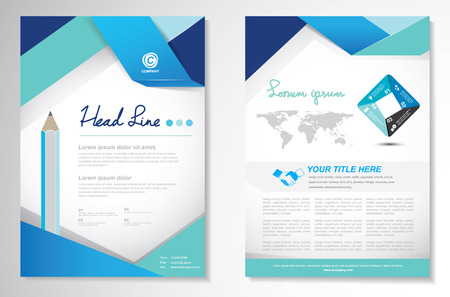 blank brochure: Vector Brochure Flyer design Layout template, size A4, Front page and back page, infographics. Easy to use and edit.