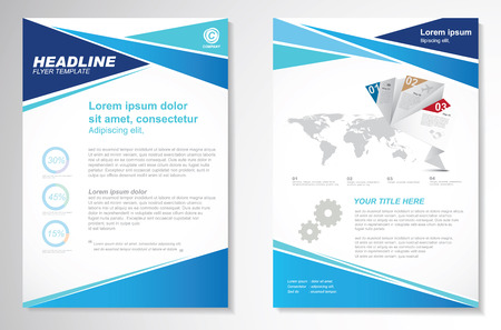 page design: Vector Brochure Flyer design Layout template, size A4, Front page and back page, infographics. Easy to use and edit.