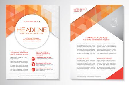 Wektor Broszura wydruku szablonu projektu układu, formatu A4, z przodu iz tyłu strony Strona, infografiki. Łatwy w obsłudze i edycji.
