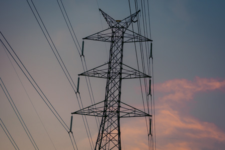megawatts: High-voltage power transmission towers