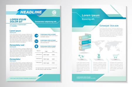Broschüre Design Layout-Vorlage, Größe A4, Titelseite und Rückseite, Infografiken. Einfach zu bedienen und zu bearbeiten. Standard-Bild - 56479230