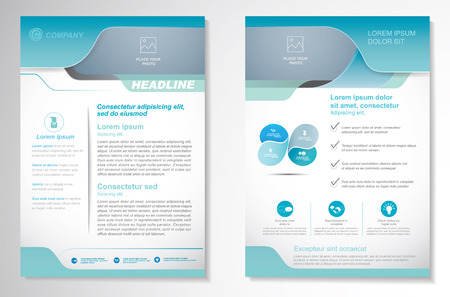 Brochure design Layout template, size A4, Front page and back page, infographics. Easy to use and edit.  イラスト・ベクター素材
