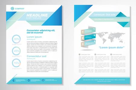 sjabloon: Brochure ontwerp lay-out sjabloon, A4, voorpagina en achterpagina, infographics. Gemakkelijk te gebruiken en te bewerken.