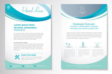 annual report: Vector Brochure Flyer design Layout template, size A4, Front page and back page, Easy to use and edit. Illustration