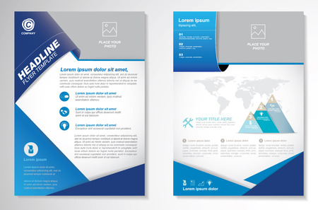 page layout: Brochure design Layout template, size A4, Front page and back page, infographics. Easy to use and edit. Illustration