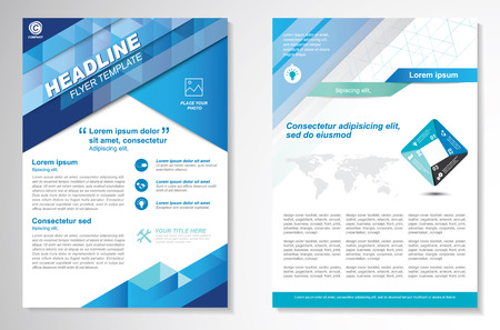 Broschüre Design Layout-Vorlage, Größe A4, Titelseite und Rückseite, Infografiken. Einfach zu bedienen und zu bearbeiten.