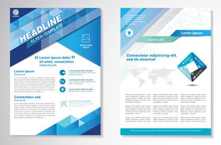 brochure: diseño de folletos plantilla de disposición, tamaño A4, en la página frontal y última página, la infografía. Fácil de utilizar y editar.