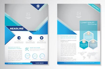 conception de la brochure du modèle de mise en page, format A4, la page avant et page arrière, infographies. Facile à utiliser et modifier. Vecteurs