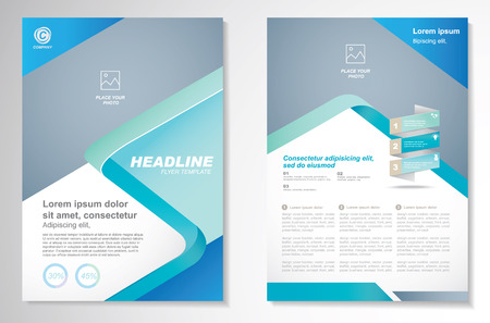 Brochure design Layout template, size A4, Front page and back page, infographics. Easy to use and edit. Vettoriali