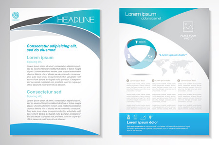 Brochure design Layout template, size A4, Front page and back page, infographics. Easy to use and edit. Stock Illustratie