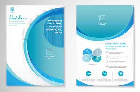 Vector Brochure Flyer design Layout template and Cover design annual report, size A4, Front page and back page, infographics. Easy to use and edit.