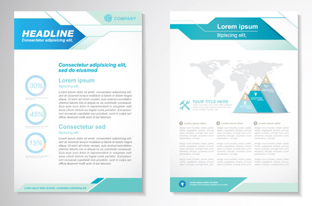 booklet design: Vector Brochure Flyer design Layout template, size A4, Front page and back page, infographics. Easy to use and edit.