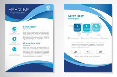 Vector Folleto folleto plantilla de diseño diseño, tamaño A4, en la página frontal y última página, la infografía. Fácil de usar y editar.