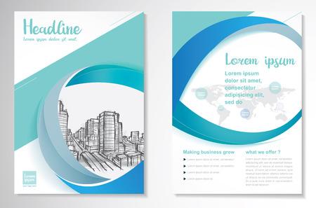 Vector Brochure Flyer ontwerpsjabloon lay-out, A4, voorpagina en achterpagina, infographics. Gemakkelijk te gebruiken en bewerken. Stock Illustratie