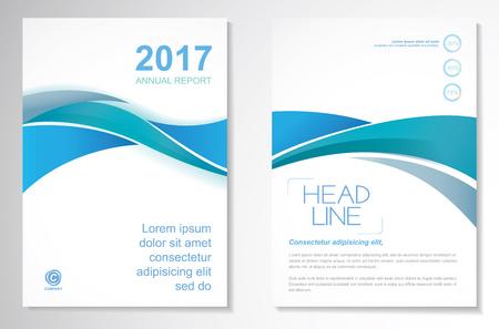 Vector Broschüre Flyer Design-Layout-Vorlage, Größe A4, Titelseite und Rückseite, Infografiken. Einfach zu bedienen und zu bearbeiten. Vektorgrafik