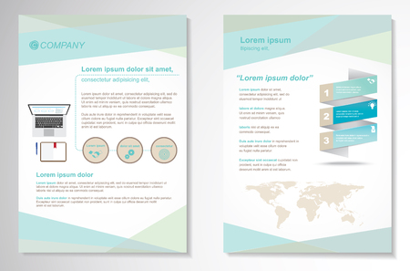 poster: Template vector design for Brochure, Annual Report, Magazine, Poster, Corporate Presentation, Portfolio, Flyer, layout modern with blue color size A4, Front and back, Easy to use and edit.