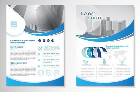 Sjabloon vectorontwerp voor Brochure, Jaarverslag, Tijdschrift, Poster. Stock Illustratie