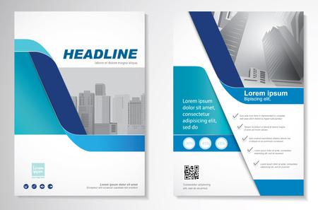 Diseño del vector de la plantilla para el folleto, informe anual, compartimiento, cartel. Ilustración de vector