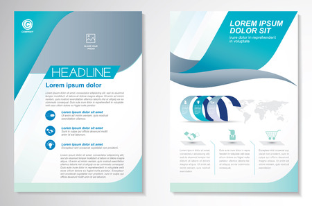 size: Vector Brochure Flyer design Layout template, size A4, Front page and back page, infographics. Easy to use and edit.