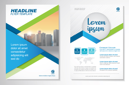 テンプレート ベクトル デザイン パンフレット、アニュアル レポート、雑誌、ポスター、企業プレゼンテーション、ポートフォリオ、チラシ、a4 と  イラスト・ベクター素材