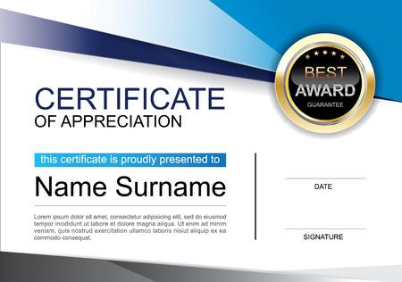 appreciation award certificate