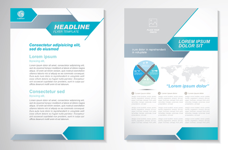 Vector Brochure Flyer design Layout template, size A4, Front page and back page, infographics.