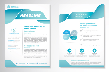 A Vector Brochure Flyer design Layout template, size A4, Front page and back page, infographics. Easy to use and edit. Stock Illustratie