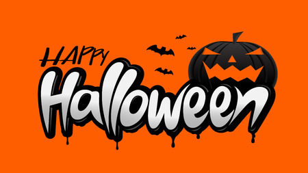 Halloween design pumpkins Isolated Vector illustration for wed, banner, poster, greeting card, party invitation. Ilustracja