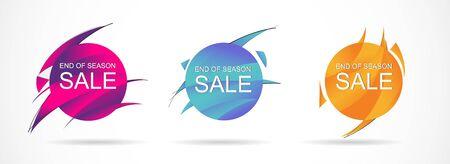 Set web banner for social media, mobile apps, sale banner template, vector illustrations.