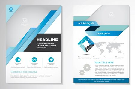 Vector Brochure Flyer design Layout template, size A4, Front page and back page, infographics. Easy to use and edit. Vektoros illusztráció