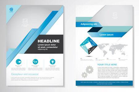 Vector Brochure Flyer design Modello di layout, formato A4, pagina anteriore e posteriore, infografica. Facile da usare e modificare. Vettoriali