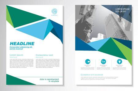 Brochure vectorielle Flyer design Layout template, size A4, Front page and back page, infographics. Facile à utiliser et à modifier.
