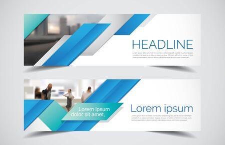 Set of modern design - Vector web banners design background or header templates, colorful horizontal. Ilustração