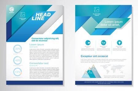 Vector Brochure Flyer design Modèle de mise en page, taille A4, page recto et verso, infographie. Facile à utiliser et à modifier. Vecteurs