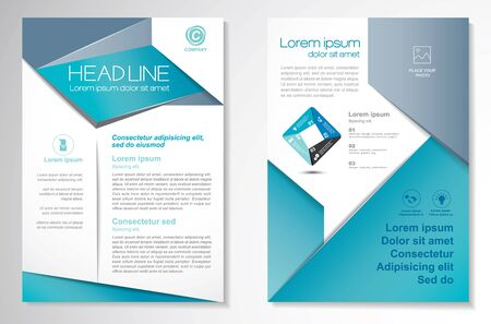 Vector Brochure Flyer design Layout template, size A4, Front page and back page, infographics. Easy to use and edit. Vektorgrafik