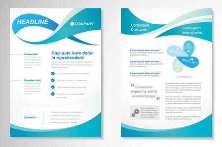 Vector Brochure Flyer design Modèle de mise en page, taille A4, page recto et verso, infographie. Facile à utiliser et à modifier.