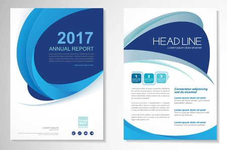 Template vector design for Brochure, Annual Report, Magazine, Poster, Corporate Presentation, Portfolio, Flyer, infographic, layout modern with color size A4, Front and back, Easy to use and edit.