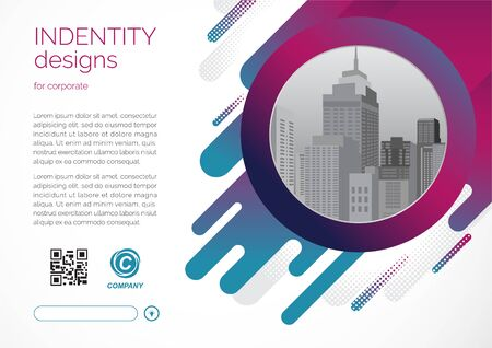 Template vector design for Brochure, Annual Report, Web design  Poster, Corporate Presentation, Flyer, layout modern with color size horizontal, Easy to use and edit.
