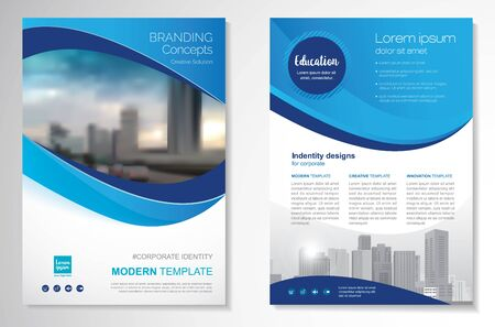 Template vector design for Brochure, AnnualReport, Magazine, Poster, Corporate Presentation, Portfolio, Flyer, infographic, layout modern size A4, Front and back, Easy to use and edit. Imagens - 148856807