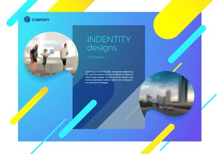 Template vector design for Brochure, Annual Report, Web design  Poster, Corporate Presentation, Flyer, layout modern with colorful size horizontal, Easy to use and edit.