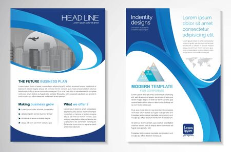 Template vector design for Brochure, AnnualReport, Magazine, Poster, Corporate Presentation, Portfolio, Flyer, infographic, layout modern size A4, Front and back, Easy to use and edit. Imagens - 148856809