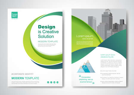 Template vector design for Brochure, AnnualReport, Magazine, Poster, Corporate Presentation, Portfolio, Flyer, infographic, layout modern with size A4, Front and back, Easy to use and edit. 向量圖像