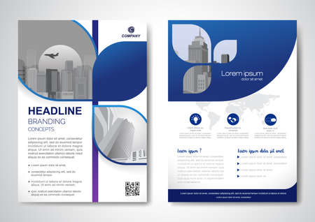 Template vector design for Brochure, AnnualReport, Magazine, Poster, Corporate Presentation, Portfolio, Flyer, infographic, layout modern with size A4, Front and back, Easy to use and edit. Illusztráció