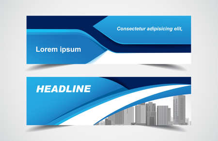 Set of modern design - Vector web banners design background or header templates, horizontal advertising business banner.