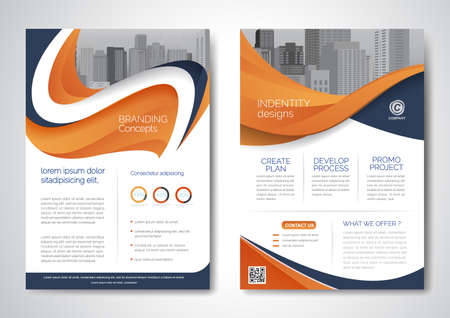 Template vector design for Brochure, AnnualReport, Magazine, Poster, Corporate Presentation, Portfolio, Flyer, infographic, layout modern with size A4, Front and back, Easy to use.
