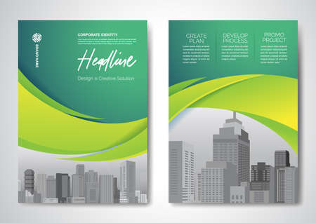 Template vector design for Brochure, AnnualReport, Magazine, Poster, Corporate Presentation, Portfolio, Flyer, infographic, layout modern size A4, Front and back, Easy to use and edit.